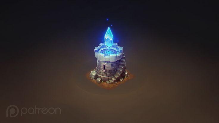 Isometric Crystal Tower, Sephiroth Art on ArtStation at https://www.artstation.com/artwork/yAv1x
