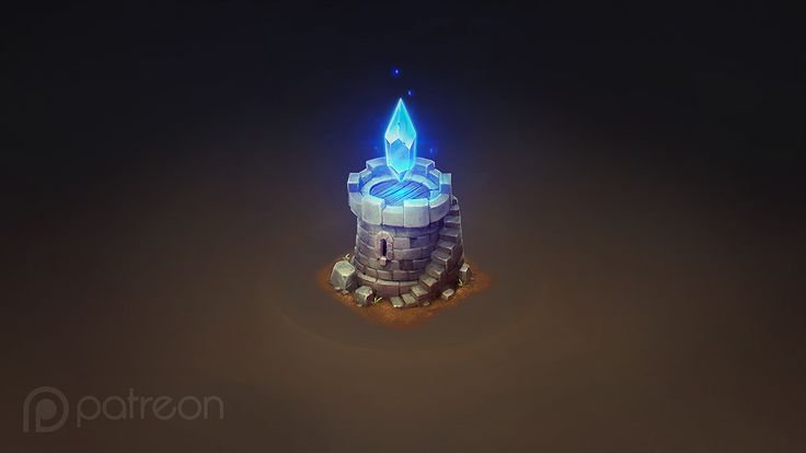 Isometric Crystal Tower, Sephiroth Art on ArtStation at https://www.artstation.com/artwork/yAv1x