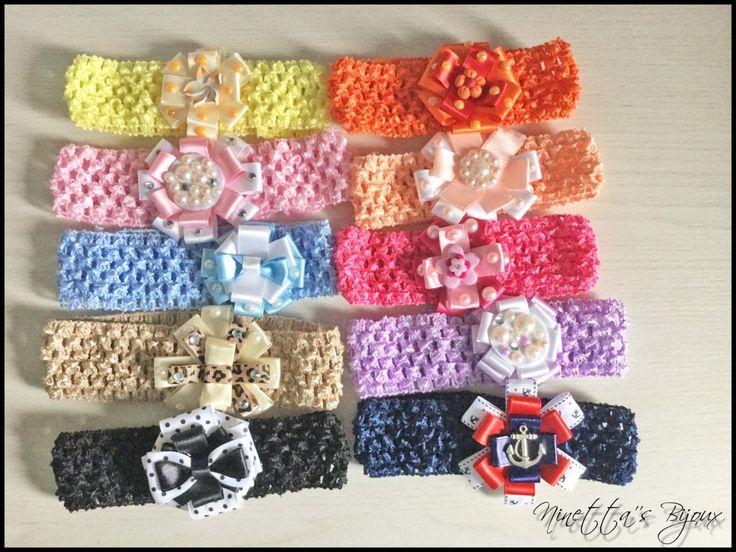 Fasce per capelli bambina crochet personalizzate - Headband crochet di NinettaBijoux su Etsy