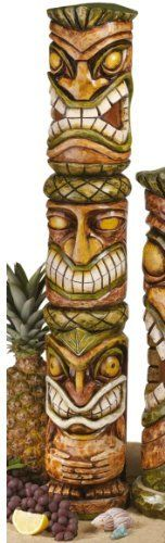 31 in. Moai Haku Pani Tiki Statue by Design Toscano. $49.95. Cast in quality designer resin. Hand painted. Design Toscano exclusive. Say  aloha  to island fun with these exotic sculptures perfect for a year-round luau! Mirroring the original native, rough-hewn carvings, our island survivors are cast exclusively for Toscano in faux wood-grained designer resin and individually hand-painted for tiki style. Our playfully primitive tikis are sculpted 360 degrees so gues...