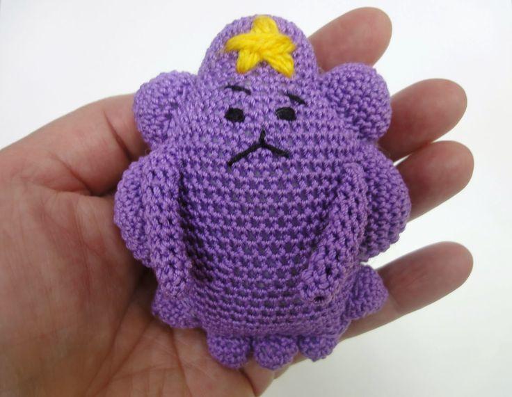 Вязание крючком: Принцесса ПУПЫРКА Ч-1  Lumpy Space Princess Croche...