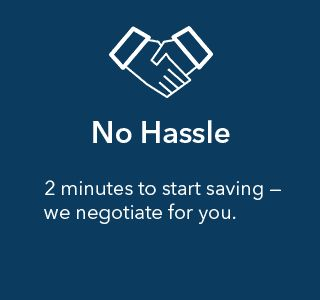 Send your bill, they negociate for you. If they can't lower the rate you d'ont pay anything, if they can, you share the savings with them