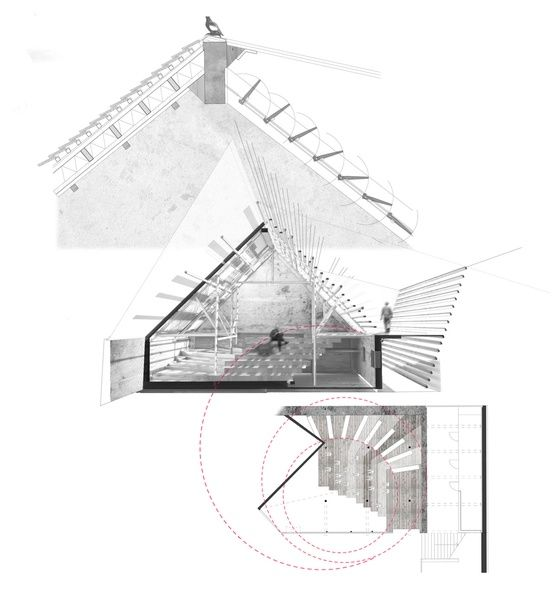 Alexandre Braleret architectural drawings