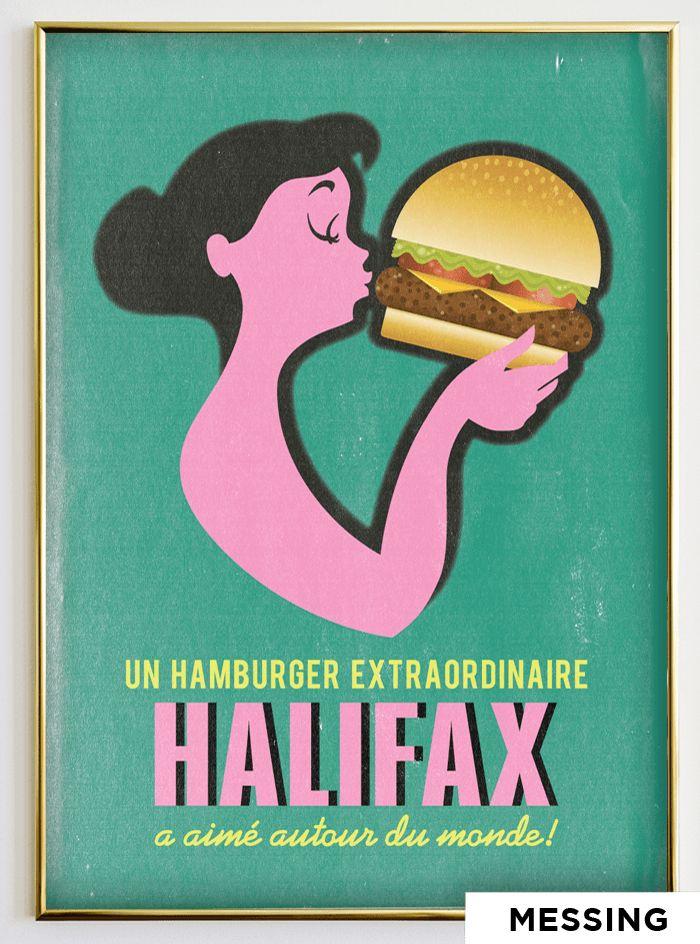 #08 MOM KISSING BURGER - Halifax poster
