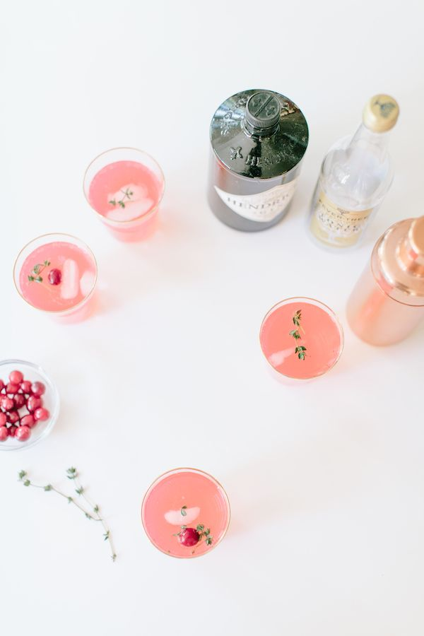 Cranberry Thyme Gin & Tonic recipe | theglitterguide.com