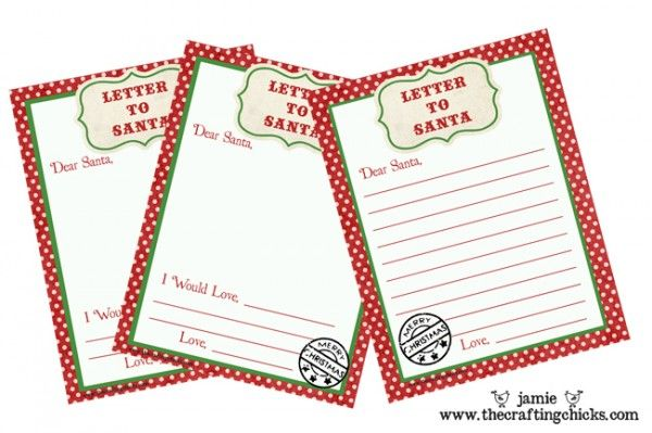 Letter to Santa Free Printable Download!  Great idea for next year :)  From thecraftingchicks.com