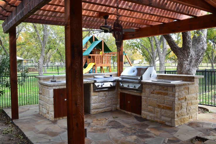 outdoor kitchen with pergola | Outdoor Kitchens - Decks and More