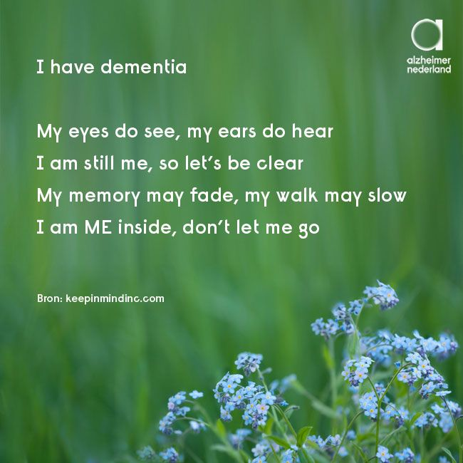 I have dementia - don't let me go #dementie #alzheimer