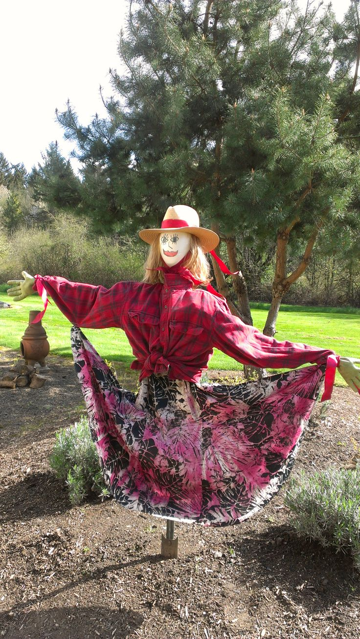 Try a lovely lady scare crow!! Seasonal Mary Herb Flower Farm