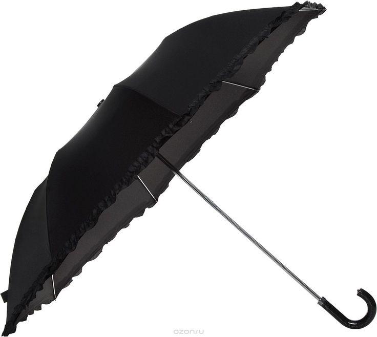 """Зонт женский Fulton """"Contessa-2"""", механический, 2 сложения, цвет: черный. L731-2635 - купить модные аксессуары от Fulton по лучшей цене в интернет-магазине OZON.ru"""