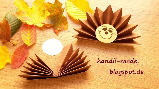 handii made: Igel aus Papier falten