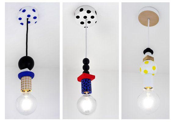 Lampe suspension en bois à motifs MARLOW/MOLLY/MELODY