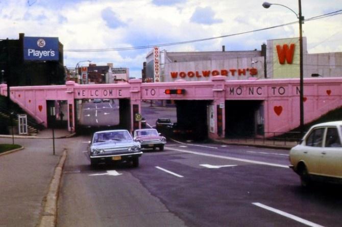 Pink Subway in Moncton