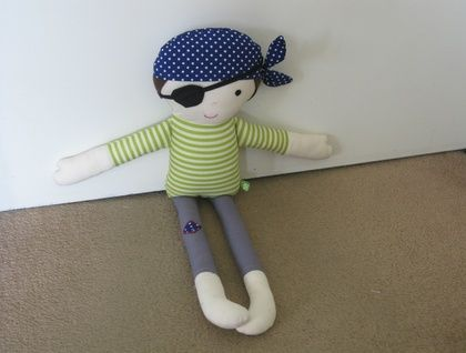 Fabric Pirate Doll