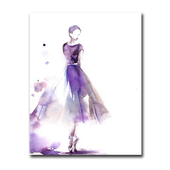 Ballerina Watercolor Print Watercolor Painting Art Print Ballet Watercolour Art (15.00 USD) by CanotStopPrints