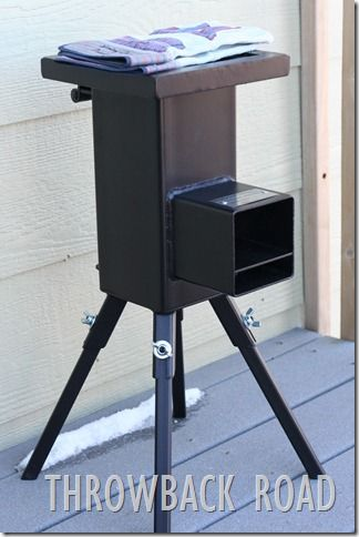 The Deadwood stove...cookfood with only sticks...great for the backyard homesteader
