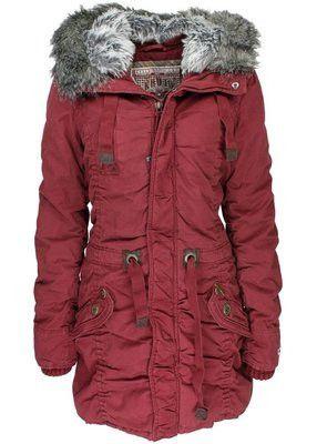 Khujo Women's Chalk Plain Hooded Jacket - Berry - Gorgeous Gift – Ski