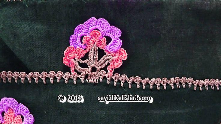 Kalın Dolgulu Tığ Oyası Örneği - Thick Padded Lace Crochet