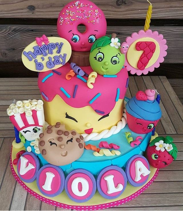 Super Shopkins Cake Design The Cake Boutique Personalised Birthday Cards Sponlily Jamesorg