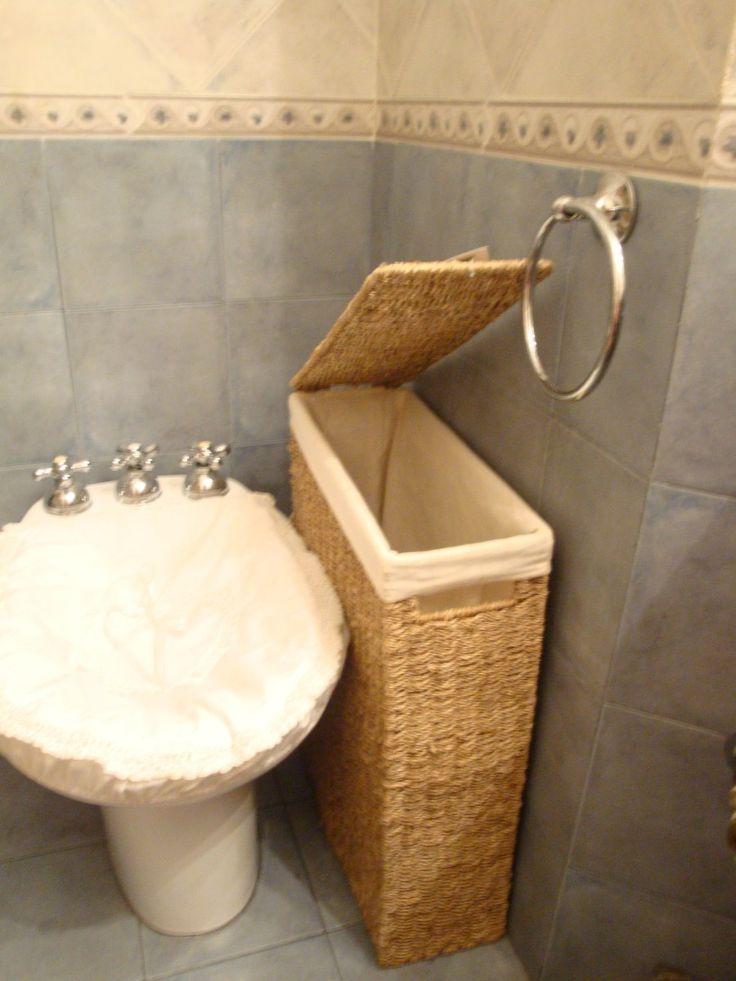 Canasto o cesto para ropa para espacios reducidos seagrass 599 casa pinterest - Cesto ropa mimbre ...