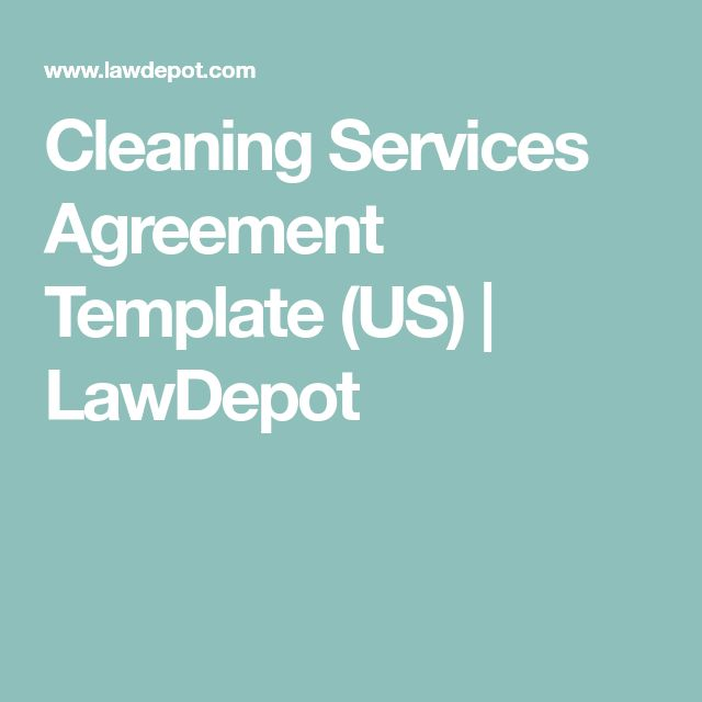 Cleaning Services Agreement Template (US) | LawDepot