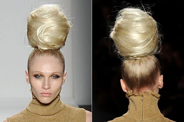 Runway hair bun