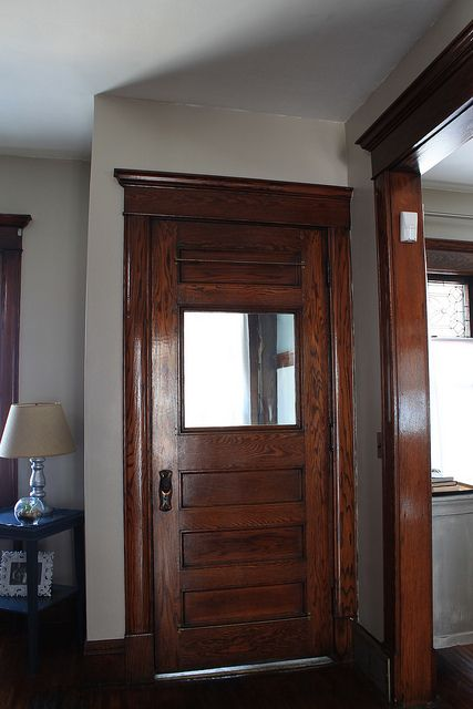 36 best images about decor ideas for wood stained trim on for Wood doors painted trim