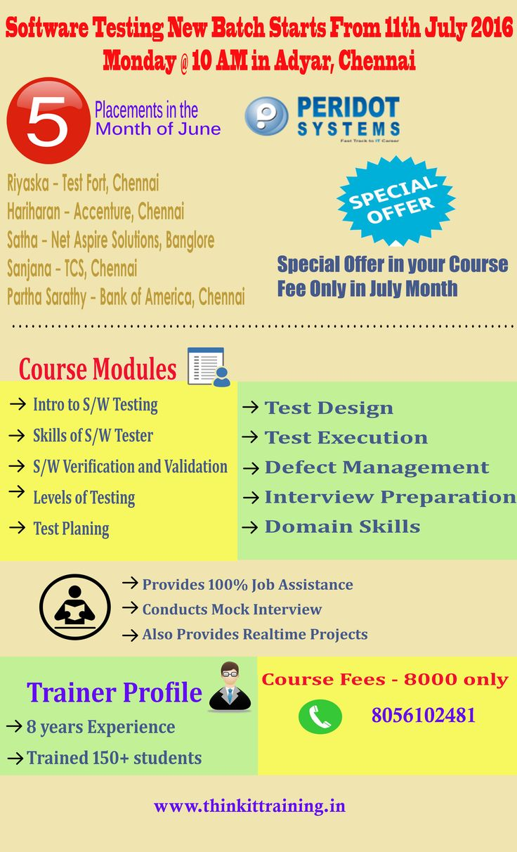 """ThinkIT Training in Chennai offers """"Special July Offer"""" to learn Software Testing Course. For more details -  http://www.thinkittraining.in"""