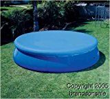INTEX 12′ Easy Set Swimming Pool Debris Cover Tarp | 58919E   Easy-to-use, durable small round pool cover Drain holes to prevent water accumulation Fits 12-foot diameter pools  Keep your pool clear of debris this swimming season with the Intex Easy Set® Pool Debris Cover! Fits 12 ft...