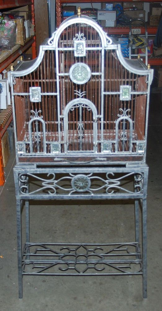 696 best bird cages images on pinterest bird houses antique bird cages and bird cages. Black Bedroom Furniture Sets. Home Design Ideas