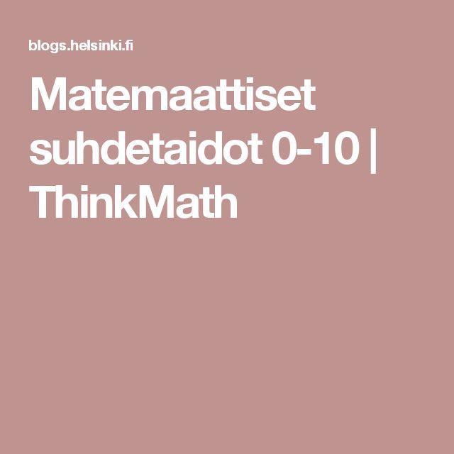 Matemaattiset suhdetaidot 0-10 | ThinkMath