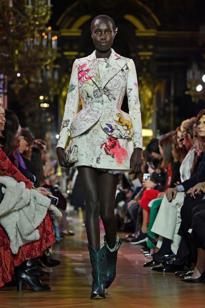 955f2b02aa9 A model walks the runway during the Schiaparelli Spring Summer 2019 ...