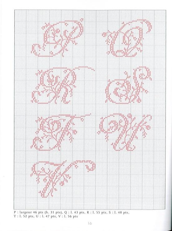 les 17 meilleures id es de la cat gorie lettres au point de croix sur pinterest motifs. Black Bedroom Furniture Sets. Home Design Ideas