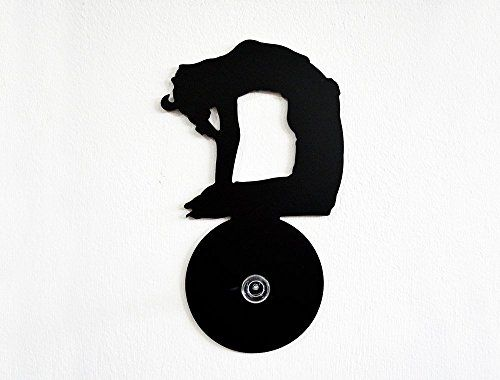 Yoga Positions 4Ustrasana Silhouette-Wall Hook / Coat Hook / Key Hanger. SPECIFICATIONS❂ The Hook is made of black acrylic 3mm thick ❂ Screw the knobs directly into your wall and hang what you want :) Better to Install plastic anchor ( i will provide one for concrete walls ) on your wall first, i recommend using a plastic anchor appropriate for the material your walls is made of. ( 05⁄32in - 4mm ) ❂ If you don't want to make a hole in your wall, choose the option with a double sided..