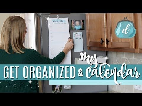 KITCHEN ORGANIZATION  Do It On A Dime 2018 Calendar & Command Center - YouTube