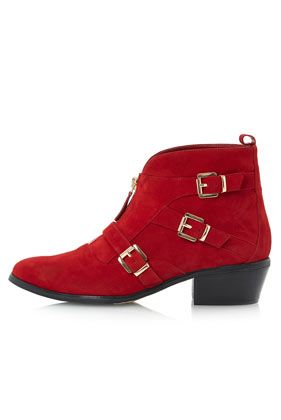 **Pendulum Front Zip and Buckle Boots by Dune
