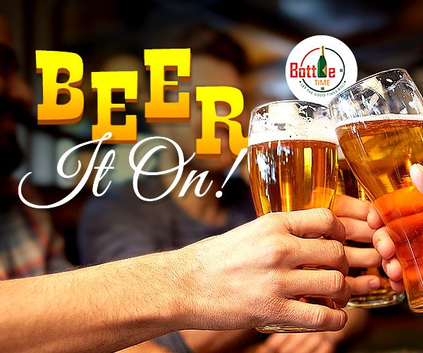 Clink-in the golden froth of #beer zeal !!! Order Beer @ 403-918-3030 www.bottletime.ca