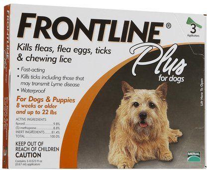Frontline Plus Dog 0-22 lb - 3 doses (Quantity of 1) * For more information, visit image link.