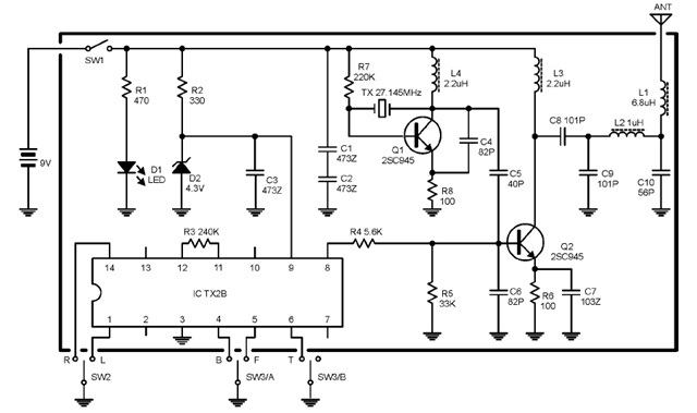 27MHz TransmitterReceiver Radio Control PCBs and