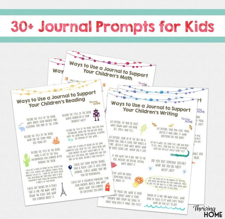 FREE Journal Prompts For Kids (30+)