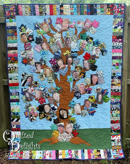 cute family tree quilt