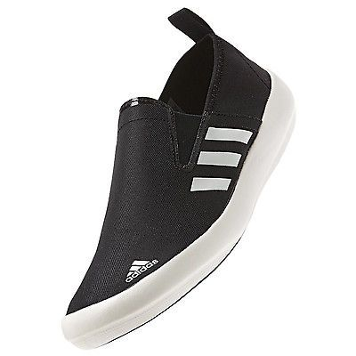 adidas Performance Mens Outdoor Boat Slip On DLX Pump Shoes - Black