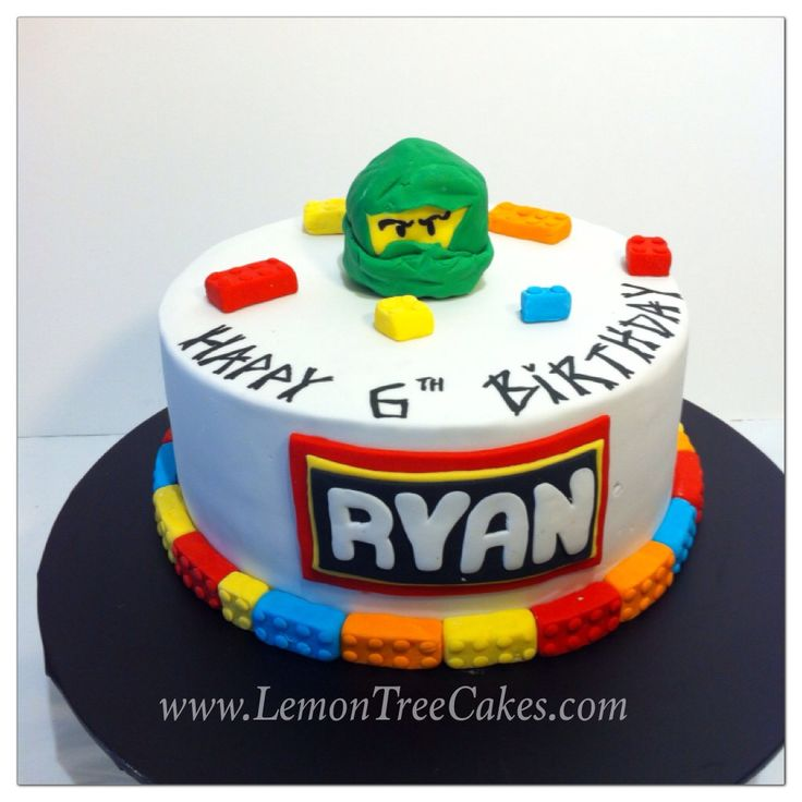 Ninja go Lego head cake..  Kids absolutely love Ninjago and Lego... Why not put it in a cake theme...