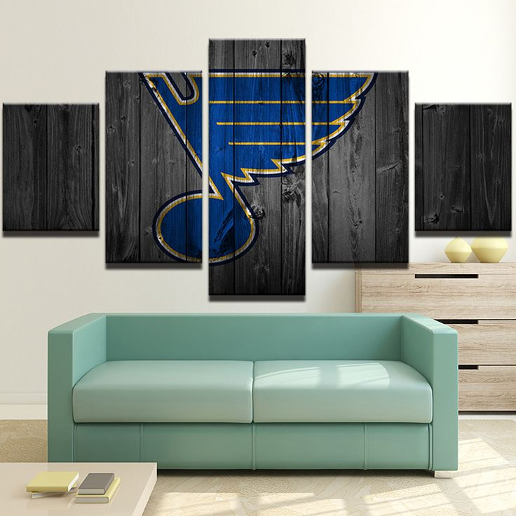St Louis Blues NHL Team Big Logo (Wood)