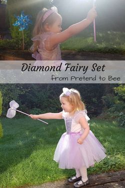 Diamond Fairy Set from Pretend to Bee - a wonderful fairy costume, perfect for toddlers and older children. Brilliant Halloween Costume and I think it would be fab for any dressing up occasion!