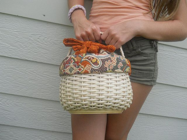 Hand Woven Baskets | Fun Fall Floral And Paisley Hand Woven Basket Purse by ...