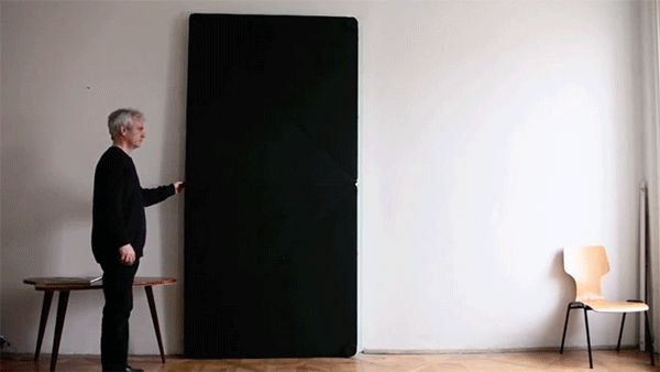 Amazing shapeshifting doors flip and fold open at the slightest touch just like origami | Mail Online