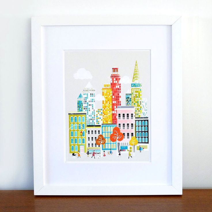 New York Print Manhattan Skyline, Wall Art Paper Poster, Cityscape Illustration, Decor for Home, Office and Nursery, Orange Red, SPPNYM1 by lauraamiss on Etsy https://www.etsy.com/listing/86896204/new-york-print-manhattan-skyline-wall