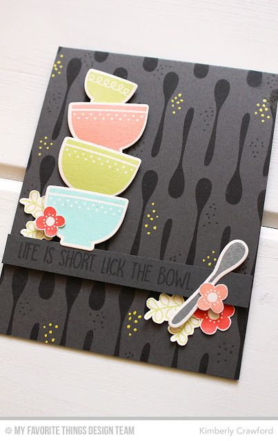 For the Love of Paper: MFT Stamps Kitschy Kitchen Card Kit now available!