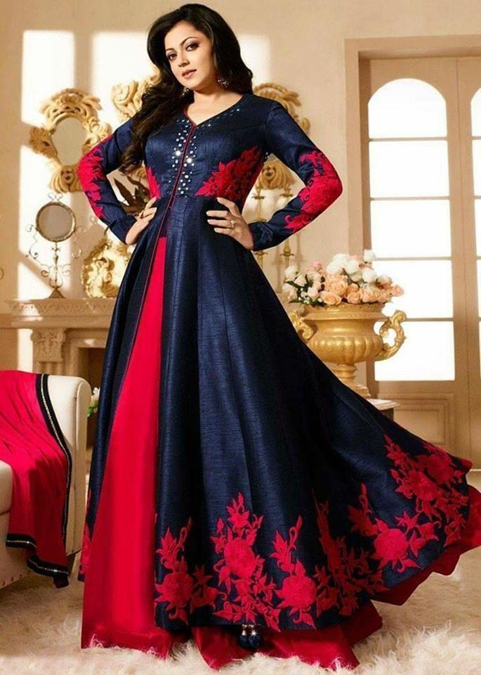 Nice Amazing Indian anarkali salwar kameez designer bollywood pakistani wedding suit silk 2  2017-2018